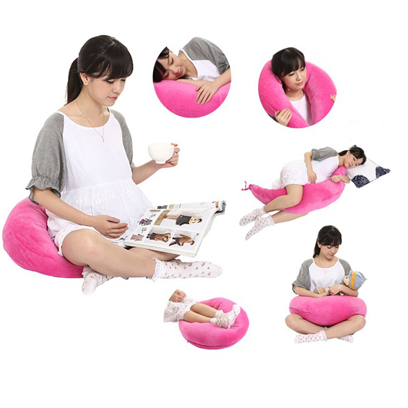 Mummy Waist Support Cushion Portable Maternity Baby Breastfeeding Pillow Infant Cuddle U-Shaped Feeding Nursing Pregnant Pillow hot sale maternity body pillow soft pregnant women sleeping belly back support comfy baby nursing breastfeeding pillow