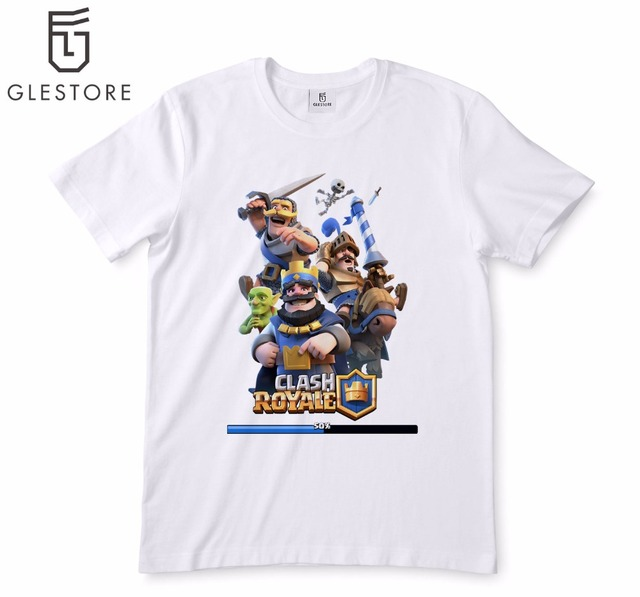 1e5072448 Clash Royale Games T-shirt Men'S Fashion Game of Thrones T Shirt Printed  Cartoon Anim