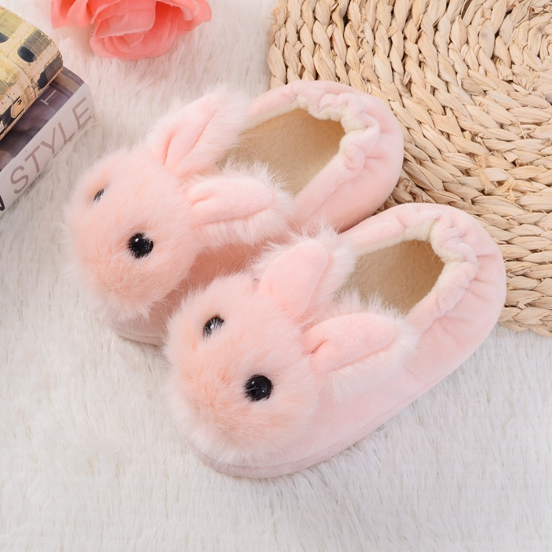 Unicorn Slippers Kids Funny Home Slippers for Girls Boys Cartoon Rabbit House Shoes Winter Warm Toddler Slippers TX6