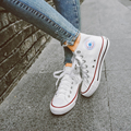Tamaño grande 35-45 Mujeres/Hombres Polainas Alta-Top Zapatos de Lona Clásicos de La Muchacha Cansual Fina de Alta Calidad inferior Del Tobillo Zapatos de Mujer