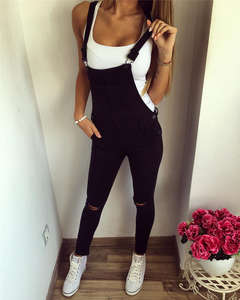 Jeans Jumpsuit Pants Bib Overall Skinny Baggy Womens New-Arrival Stylish Hole