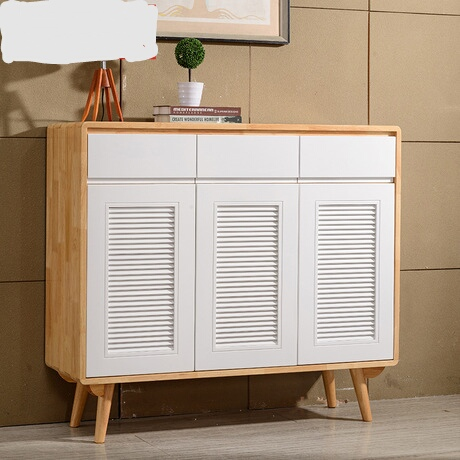 Shoe Cabinets Rack Home Furniture Shutter Door Solid Wood Shoes Organizers Zapateros Almacenaje Mueble Zapatero Shelf In From