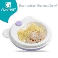 Baby Tableware Solid Feeding Cartoon Bear Dishes Protos Kids Bowl Plate Food Feeding Dinnerware Set Plates for Children