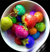 Delicious Multi-color Strawberry Bonsai 300 Pcs Fruit Tree Potted Plants Home Garden True Variety Edible Nutritious
