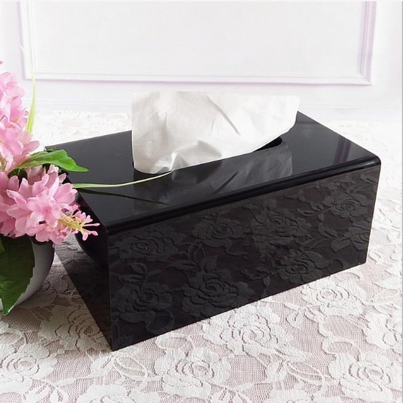 2017 New high-end tissue box, luxury European style creative carton, living room, tea table, paper towel box, napkin box