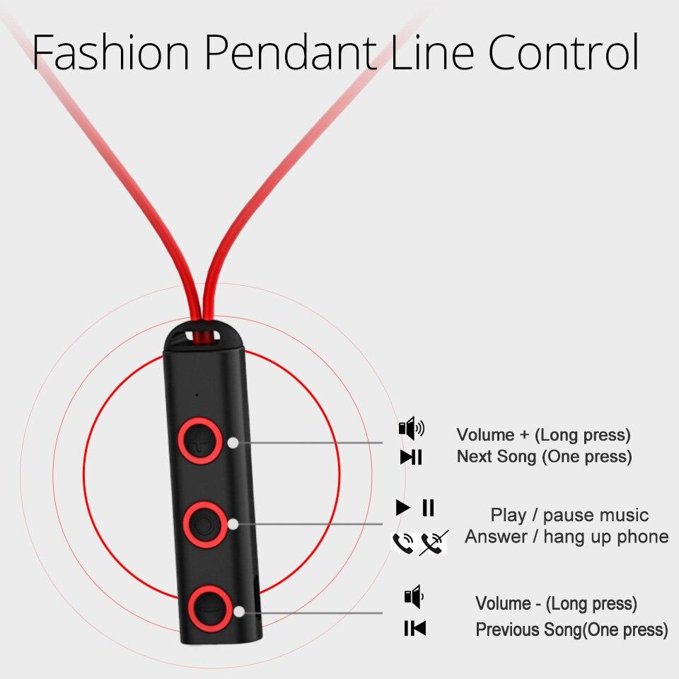 FONKEN BT313 Auricolare Bluetooth in ear Auricolari Senza Fili di Sport  Magnetico Auricolari con Microfono per Cellulare Bluetooth in ear Auricolari  in ... 31f63854b2a7