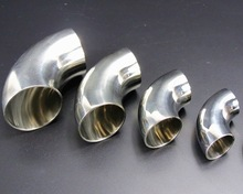 5PCS/LOT  Outer D:25mm Thickness:1.5mm 304 Stainless Steel Elbow 90 degree Welding Sanitary