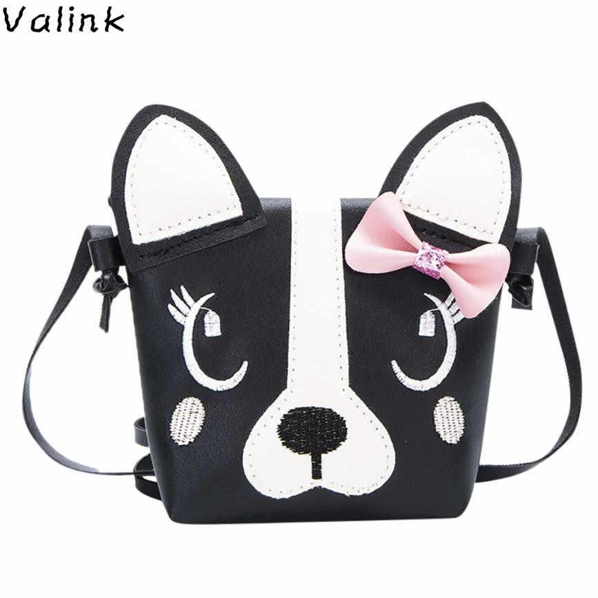 Кошелек для детей с бантом и милым животным принтом; детская сумка на плечо с держателем для карт; мини-сумка; подарок