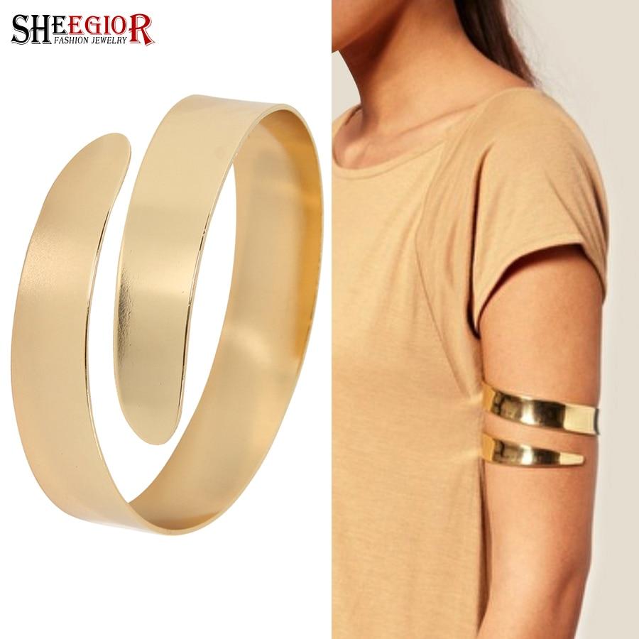 Y Gold Silver Color Arm Bracelets