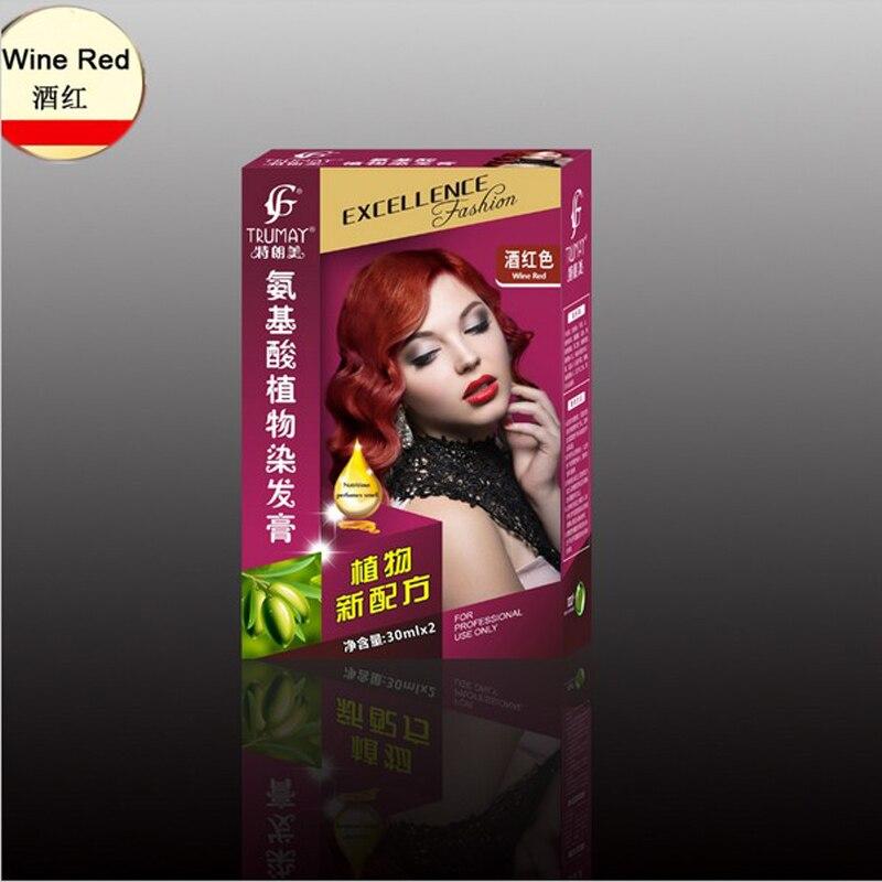 Teinture cheveux rouge vin