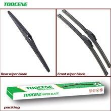 цена на Front And Rear Wiper Blades For Toyota IQ 2008 2009 2010 2011 2012 2013 2014 2015 Rubber Windshield Windscreen Wiper 21+18+11