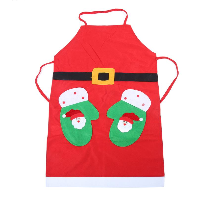 Christmas Apron Kitchen Cooking Dinner Apron Household Cleaning Tools Accessories Party Costumes Props Decoration