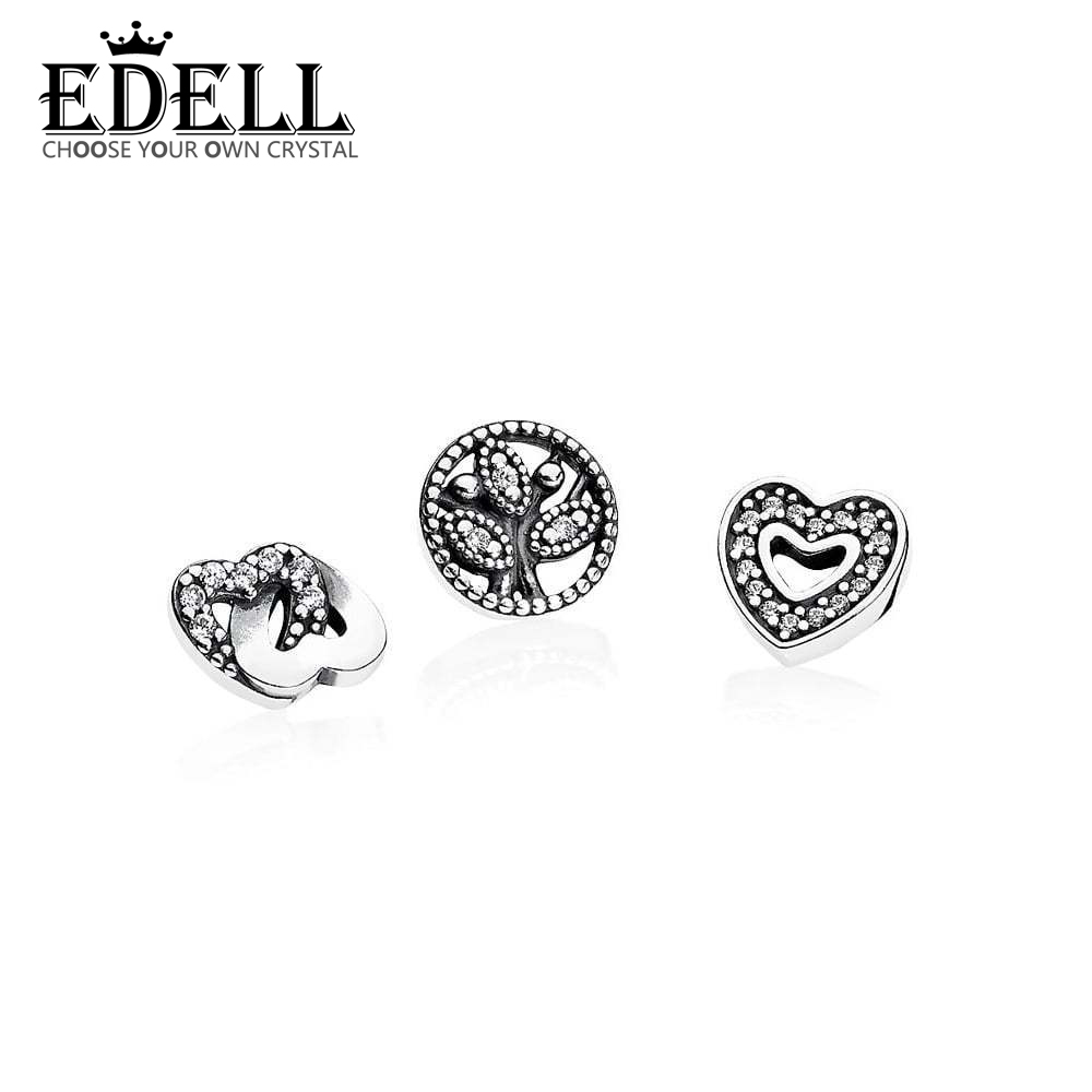 EDELL 100% 925 Sterling Silver 1:1 Floating Box Small Decorative Life Tree Heart-Shaped Winter 792020CZ Original Vintage JewelryEDELL 100% 925 Sterling Silver 1:1 Floating Box Small Decorative Life Tree Heart-Shaped Winter 792020CZ Original Vintage Jewelry