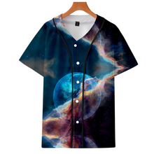 LUCKYFRIDAYF K-pop Suicide Squad Baseball T-shirt Women Starry sky Fashion Autumn Jersey Short Tshirt Clothes 4XL