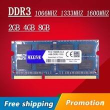 Продвижение DDR3 4 ГБ 8 ГБ 2 ГБ 1066 1333 1600 1066 мГц 1333 мГц 1600 мГц SODIMM DDR3 4 ГБ DDR3L Ram Memoria Памяти Для Ноутбука ноутбук