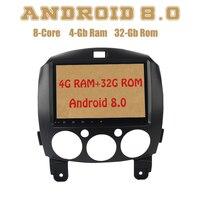 Dasaita Octa core PX5 Android 8,0 Автомобиль Радио DVD gps для Mazda 2 с 4G Оперативная память 32G Встроенная память Wi Fi 4g usb Авто Радио Стерео Multimed