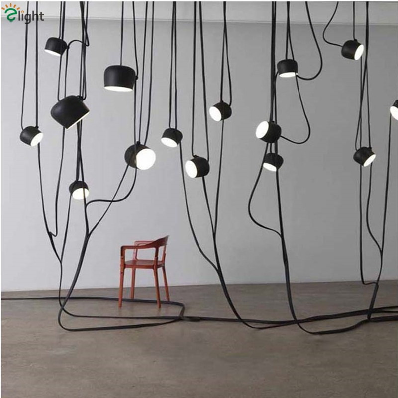 Bouroullec Liane Suspension Lamp Italy Modern Minimalism Length 300cm LED Pendant Light DIY Style Painted Metal Suspension Lamp