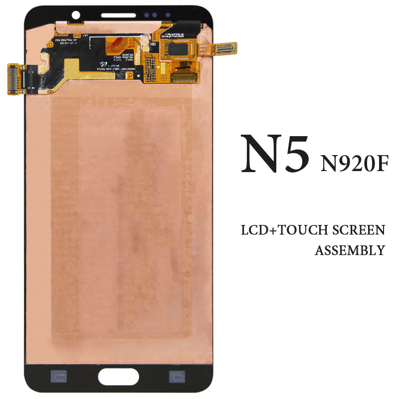 5.7 Inch For Samsung Galaxy Note 5 LCD AMOLED Digitizer Display Touch Assembly N9200 N920F N920T N920A White Blue Gold