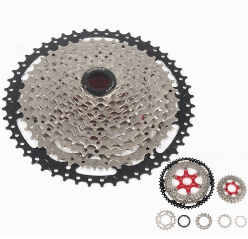 SUNSHINE MTB Bicycle 11 Speeds 11-50T Cassettes Road Mountain Bike Cassette 570g west biking bike chain wheel 39 53t bicycle crank 170 175mm fit speed 9 mtb road bike cycling bicycle crank
