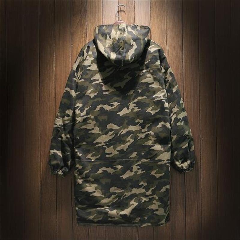 Graisse Style De Moyen Camouflage camouflage Supplémentaire Veste 2 Long Yards Et Hommes Jeunes Porter Coupe Deux Côtés Chapeau 1 Lâche vent rdxoeCB