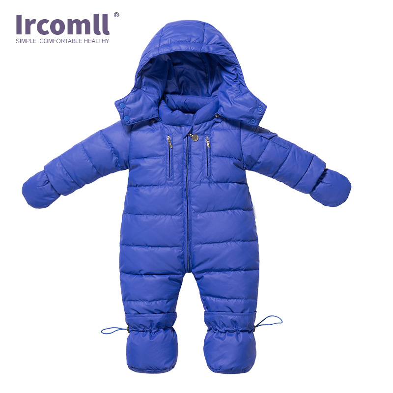 Ircomll Autumn Winter White Duck Down Newborn Baby Rompers Warm Light Hooded Infant Girl Boy Outwear Clothes Toddler Clothing 2018 new baby girl boy toddler winter rompers clothes infant hooded duck down sets jackets coats overalls 2 5y baby outwear