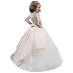 New 2019 Summer Dress Long Sleeve Dress Girls Wedding Dress For Girls Clothing Costume Kids Carnival Party Princess 10 12 Year
