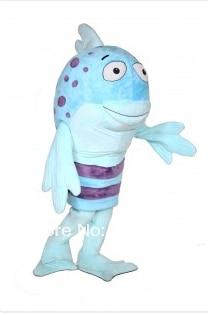 Mascota el puchero pucheros pez mascota disfraz cosplay traje kits tema mascotas vestido de traje de Carnaval