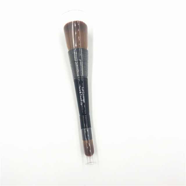 Professional BB Full Coverage Face & Touch Up Makeup Brush Double ended Contour Sculpting Brush Blending Make up Brush 4