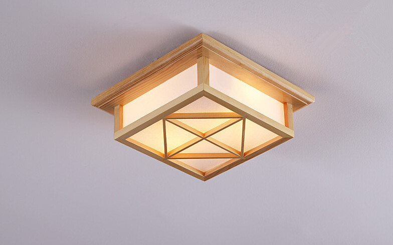 Small Japanese Ceiling Lights Washitsu Decor Ceiling Decoration Lamp E27 Wood and Paper Hallway Indoor Japanese Lamp Lighting japanese style indoor lighting ceiling lights washitsu tatami decor shoji lamp wood and paper restaurant living room hallway