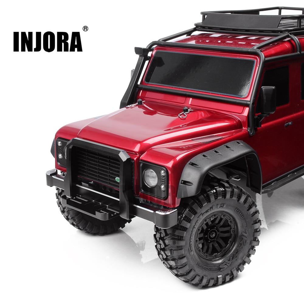 INJORA TRX4 Metal Front / Rear Bumper For 1:10 RC Crawler Traxxas TRX-4