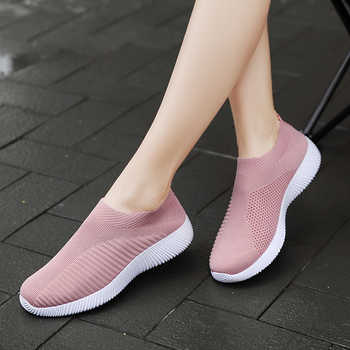 ERNESTNM 2019 Women Sneakers Vulcanized Shoes Sock Sneakers Women Summer Slip On Flat Shoes Women Plus Size Loafers Walking Flat - DISCOUNT ITEM  52% OFF All Category