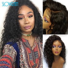 Unprocessed Brazilian Virgin Kinky Curly Lace Front Human Hair Wigs 130 Density Brazilian Human Hair Full Lace Wigs For Women
