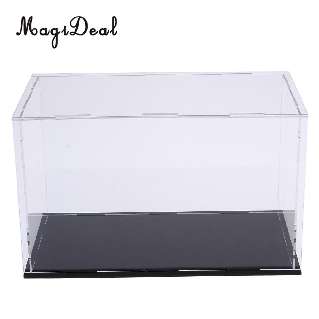 MagiDeal Acrylic Display Case Dust-proof Show Box For Plane Car Boat Model 8*7*6inch
