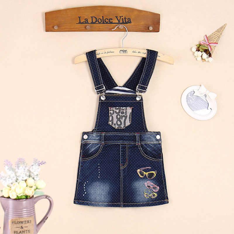 828d3f53c ... YATFIML летнее платье для маленьких девочек джинсы платья женщин  Комбинезоны девочек звезды нагрудник с печатным рисунком ...