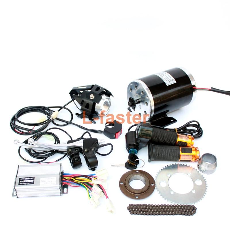 1000W Electric Motorcycle Motor Kit Changing Gas ATV To Electric ATV DIY Electric 4 wheel Child