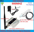 LCD Display !!! GSM 900Mhz Mobile Phone Signal Booster , GSM Signal Repeater , Cell Phone Amplifier + Yagi Antenna with Cable