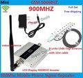 Pantalla lcd! GSM 900 Mhz teléfono móvil amplificador de señal, repetidor de la señal gsm, teléfono celular amplificador + Yagi antena exterior con Cable