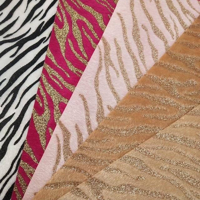 1 pc 21X29 cm Sintético Letaher, Cuero Sintetico Emmitation Zebra de Couro Para Fazer Arcos Acessórios T20