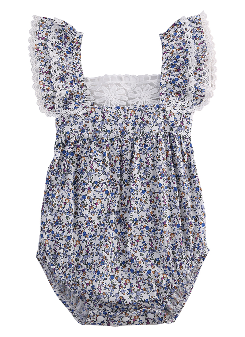 Infant Baby Girl Clothes Lace Floral Romper Jumpsuit Outfits Sunsuit
