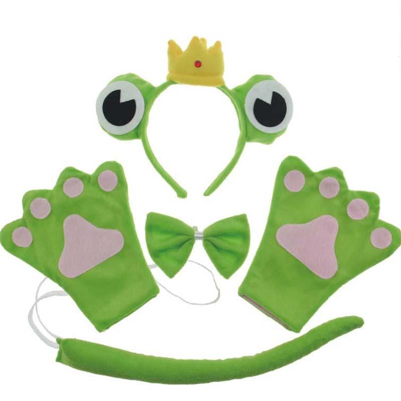 ツ)_/¯2018 verde príncipe Rana diadema pajarita patas de la cola 5 ...