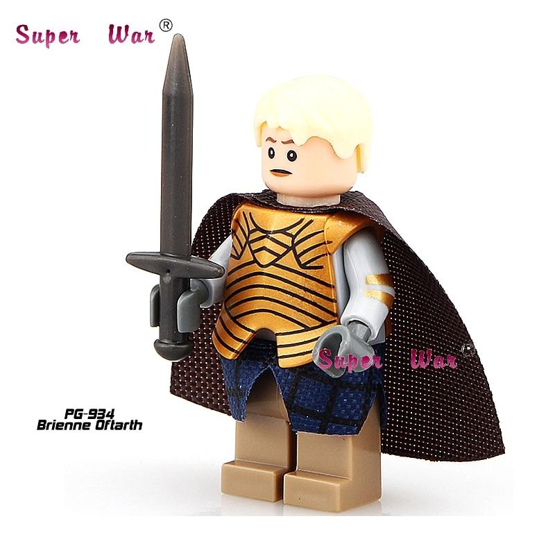 20pcs star wars superhero Game of Thrones Brienne Oftarth building blocks action figure bricks model educational diy baby toys