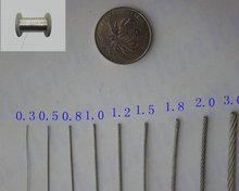 100เมตร/พลาสติกล้อแรงดึงสูง316สแตนเลสเชือกลวด7X7โครงสร้าง1.0มิลลิเมตรเส้นผ่าศูนย์กลางสายเคเบิ้ล