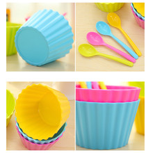 1PC  4color  kids ice cream bowls  Lace with spoon salad bowl Couples bowl gifts Dessert drop ship