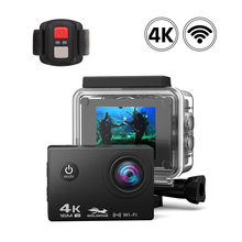 Ultra HD 4K WiFi Action Camera with 2.4G Remote Control Go Waterproof pro DV DVR Video Recorder Sport Camera for Travel Climbing