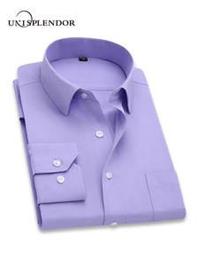 unisplendor Long Sleeve Slim Male Clothing Fit Shirts