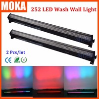 2 шт/комплект 252 pcs10mm мыть светодиодный свет DMX512 напольный пейзаж лампа света мытья стены сад заливающее освещение стены