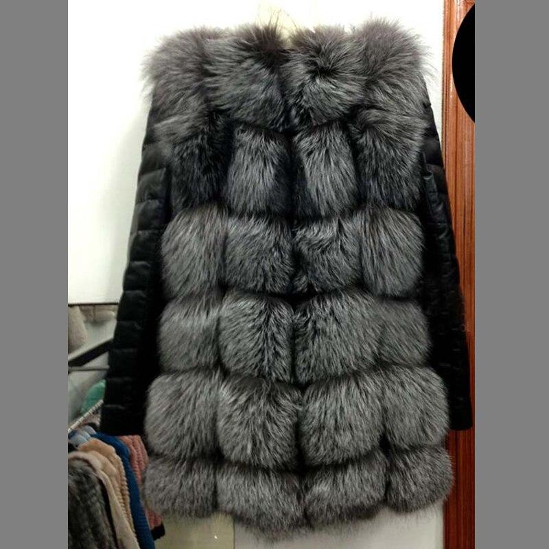 UPPIN шуба Новые Большие размеры меховое пальто с рукавами из искусственной кожи женская зимняя куртка из искусственного меха лисы Женская Осенняя модная теплая верхняя одежда пальто шуба из искусственного меха шубы