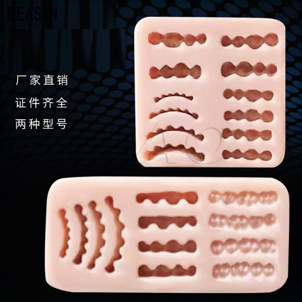 Good quality 2PCS Dental lab inverted mold wax rubber model base denture laboratory wax teeth rubber