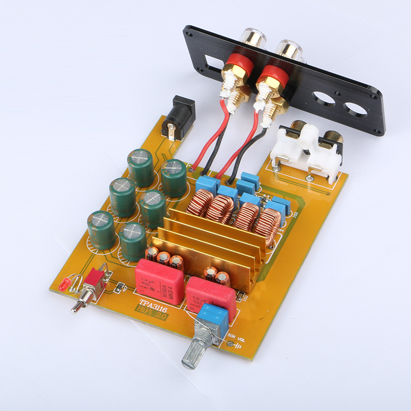 2017 NEW K GuSS GU50 HIFI 2 0 class D TPA3116 Mini borne audio power amplifier amplificador 2 50W 3A DC12V and DC24V in Amplifier from Consumer Electronics
