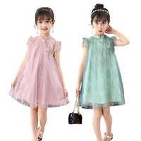 Roupa das meninas Retro Rendas Vestido De Malha Desgaste das Crianças Da Princesa Vestidos Vestido Infantil 3-10 Y Criança Qualidade Roupas venda quente